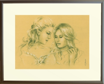 Erotic Games Pastel drawing